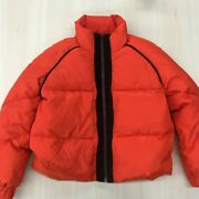 Ganni Fountain Jacket Size 36 Bright Red Wool Lined