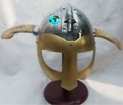 Collectible Medieval Viking Fantasy Helmet With Horns Christmas Present