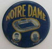 Rare Knute Rockne And Tom Conley Notre Dame Football Pin 1930 Vintage 155122