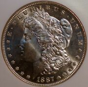 1887 United States Silver Morgan 1 Dollar Coin Ngc Mint State 65 Proof Like