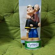 Popeye And Olive Piggy Bank Interior Figure Rare Zyrtec 4th Anniversary Novelty