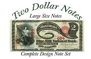 Book 2 Large Banknotes Complete Set All Series All Signature Combos 1862-1918