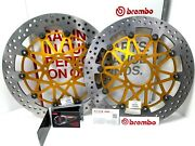 Cp Front Brake Discs Brembo Supersport Andoslash 330 Ducati 1199 Panigale Abs 2013