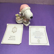 Lenox Snoopy Claus Pink Christmas 5 Figurine Peanuts 2002 With Woodstock No Box