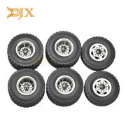 Aluminum Frontandrear Rims With Wheel Tyre For Rc 1/14 Tamiya Semi Tractor Trailer