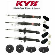 Front And Rear Shock Absorbers Strut Mount And Bellows Kit Kyb For Lexus Sc300 Sc400