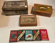 Vintage Tobacco Tins And Boxes. Lot Of 8.