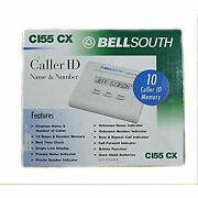 Bellsouth Caller Id System Ci55cx 10 Caller Id Memory Name And Number White