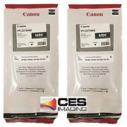 Canon 2 Pfi-207mbk 300ml Matte Black Ink Cartridges In Packageandhellip