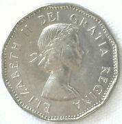 1962 Canada 5 Cent Coin Nickel Brilliant Uncirculated Canadian 5 C Coin
