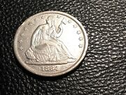 1864-s Seated Half Civil War Date Xf++details Cleaned And Scratched Half Price