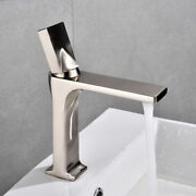 Copper Brushed Silver Bathroom Basin Faucet Deck Mount Single Handle Mixer Tap