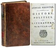 J Dodsley / Annual Register Or View Of The History Politics 1st 1777 Americana