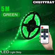 A Set Of 16-foot Waterproof Led Green Neon Decorative Lights With Remote Control