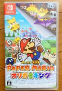 Paper Mario The Origami King Nintendo Switch Japan Ver【testedandworks Well】