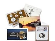 2020 Proof Set With First W Mint Nickel - Ngc Pf70uc Portrait Label