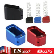 For Glock 19/23 G19 G17 22 34 35 +3 +4 Magazine Extension Base Pad W/ Spring