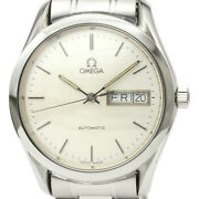 Polished Omega Classic Day Date Steel Automatic Mens Watch 166.0299 Bf519529