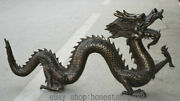 46 Old Chinese Bronze Folk Feng Shui Zodiac Animal Dragon Loong Lucky Statue