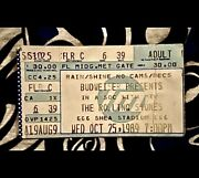Rolling Stones - Steal Wheels Tour - Shea Stadium - Oct 25 1989 - Ticket