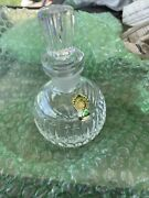 Perfume Cologne Bottle Dabber Wand Crystal Glass Signed Waterford Vertical Cut