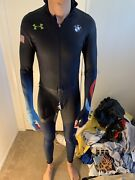 Under Armour Used Olympic Speedskating Fullbody Suit Mens Team Usa Rubber Bmw