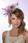 Baby And Purple Pink Feather Fascinator Hat Choose Any Colour Satin / Feathers
