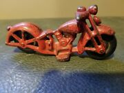 Vintage Cast Iron Toy Motorcycle, Hubley, Cast Iron Motorcycle