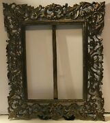 Incredible Vintage Brass Openwork Picture Frame With Stand