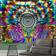 Psychadelic Tapestry For Bedroom Large Big Wall Hanging Trippy Extra Very Shroom