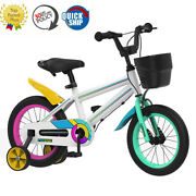 18 Inch Kids Bike White For Boys Girls Ages 3-10 Toddler 95 Assembled Phoenix