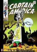 Captain America 113 Cover Marvel Comics Poster 11.5x16 Bucky Visits Capand039s Grave