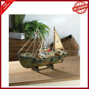 Rustic Commercial Decorative Fishing Boat Ship Model Nautical Statue Object