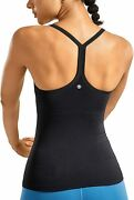 Crz Yoga Seamless Workout Tank Tops For Women Racerback Athletic Camisole Sports