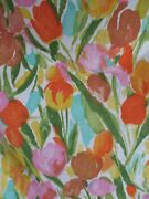Tulip Sunday Euc Royal Family Cannon Watercolor Floral Percale Sheet Fitted Full