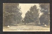 Rppc Lodi Ohio Entrance To Woodlawn West Decatur Pa Real Photo Postcard