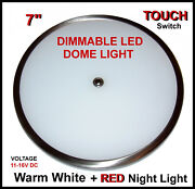 Led Dome Light Dimmable Touch Switch 7 For Boat Or Rv 12v Dc Red Night Lightandnbsp