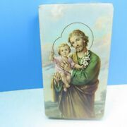 Vintage Sealed Blank Holy Cards St Joseph And Baby Infant Jesus 101 Series Italy