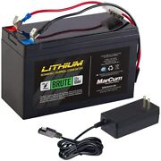 Marcum Lithium 12v 10ah Lifepo4 Brute Battery And 3amp Charger Kit