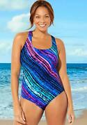 Swimsuits For All Womenand039s Plus Size Cross Back One Piece Swimsuit