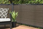 Alion Balcony Privacy Screen Cover In Brown 3ft Tall Up To 26ft Length