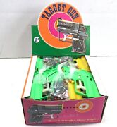 24 Vintage Imperial Dime Store 5 And 10 Plastic Toy Pistols In Box - Hong Kong Nos