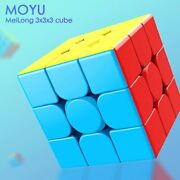 Moyu 3x3x3 Meilong Magic Cube Stickerless Cube Puzzle Professional Speed Cubes
