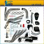 Exhaust Header Manifolds Cold Air Intake Fits Ford Avalanche 1500 Silverado 1500