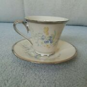 Lenox Cinderella Pattern Tea Cup And Saucer Set Discontinued Displayed Only