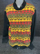 Lrg Lifted Research Group Aztec Midwest Abstract Varsity Jacket Sz M