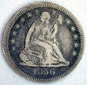 1856 Silver Seated Liberty Quarter 25c Us Coin Vf Circulated Philadelphia Mint