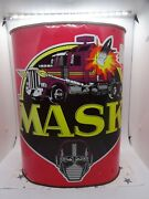1985 M.a.s.k Litho Tin Can Ultra Rare 12 Tall Made By Cheinco In The Usa Kenner