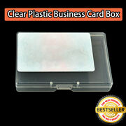 Clear Box Playing Cards Case Plastic Storage Business Card Holder Boxes Case
