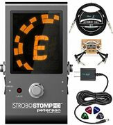 Peterson Strobostomp Hd Strobe Tuner Pedal For Bass And Guitars Bundle With